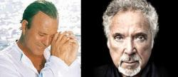 Julio Iglesias y Tom Jones, mano a mano
